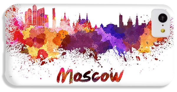 Moscow Skyline In Watercolor IPhone 5c Case by Pablo Romero
