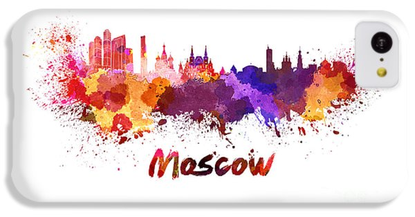 Moscow Skyline iPhone 5c Case - Moscow Skyline In Watercolor by Pablo Romero