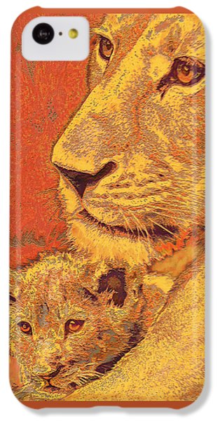 Mother And Cub IPhone 5c Case by Jane Schnetlage