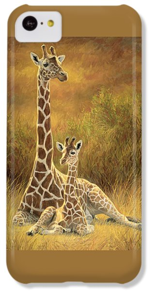 Cow iPhone 5c Case - Mother And Son by Lucie Bilodeau