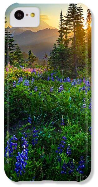 Mount Rainier Sunburst IPhone 5c Case by Inge Johnsson