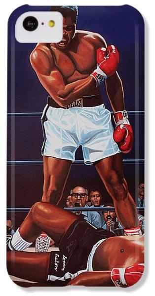 The iPhone 5c Case - Muhammad Ali Versus Sonny Liston by Paul Meijering