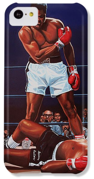 Portraits iPhone 5c Case - Muhammad Ali Versus Sonny Liston by Paul Meijering