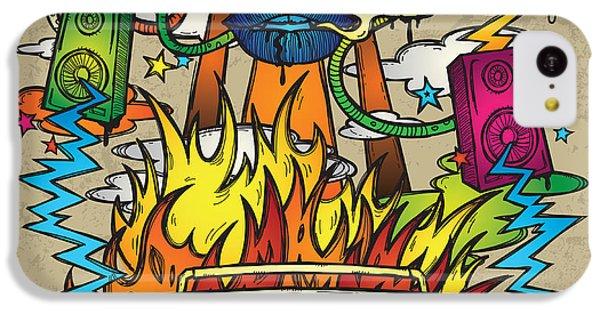 Sound iPhone 5c Case - Music Background. Stylish Grunge by Igorijart