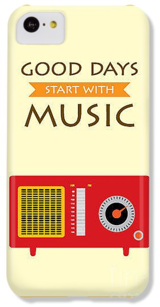 Sound iPhone 5c Case - Music Radio Poster by Judilyn
