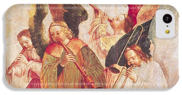 Trombone iPhone 5c Case - Musical Angels, Detail From The Assumption Of The Virgin by Taborda Vlame Frey Carlos