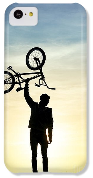 Bicycle iPhone 5c Case - Bmx Biking by Tim Gainey