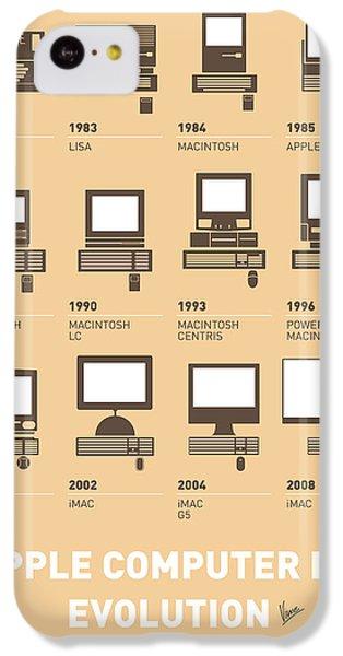 Apple iPhone 5c Case - My Evolution Apple Mac Minimal Poster by Chungkong Art