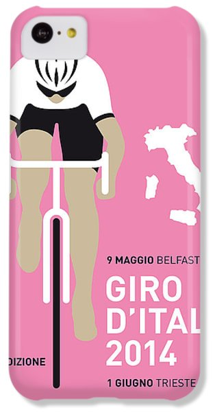 Bicycle iPhone 5c Case - My Giro D Italia Minimal Poster 2014 by Chungkong Art