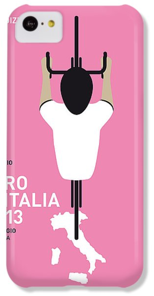 Bicycle iPhone 5c Case - My Giro D'italia Minimal Poster by Chungkong Art