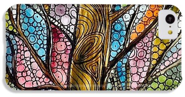 iPhone 5c Case - My Happy Watercolor Tree by Sandra Lira