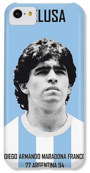 My Maradona Soccer Legend Poster IPhone 5c Case by Chungkong Art