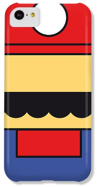 Castle iPhone 5c Case - My Mariobros Fig 01 Minimal Poster by Chungkong Art