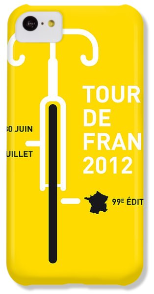 Bicycle iPhone 5c Case - My Tour De France 2012 Minimal Poster by Chungkong Art