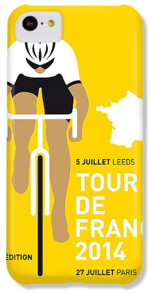Bicycle iPhone 5c Case - My Tour De France Minimal Poster 2014 by Chungkong Art