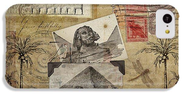 Crocodile iPhone 5c Case - My Trip To Egypt 1914 by Carol Leigh