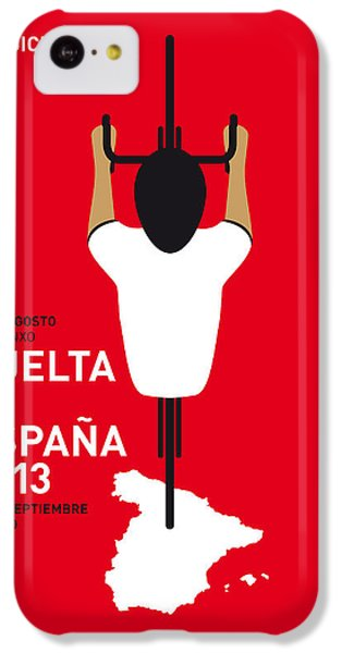 Bicycle iPhone 5c Case - My Vuelta A Espana Minimal Poster - 2013 by Chungkong Art