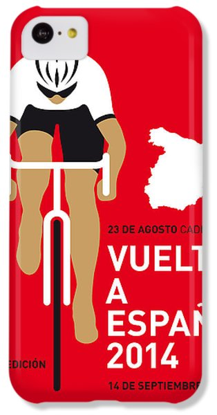 Bicycle iPhone 5c Case - My Vuelta A Espana Minimal Poster 2014 by Chungkong Art