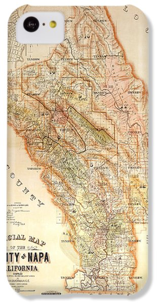 Napa Valley Map 1895 IPhone 5c Case