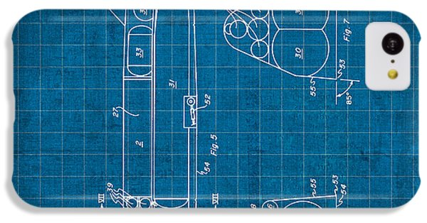 Nasa Space Shuttle Vintage Patent Diagram Blueprint IPhone 5c Case