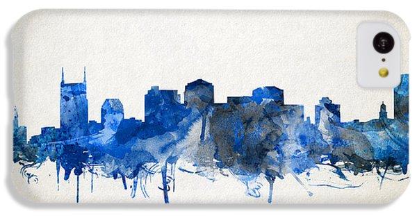 Nashville Skyline Watercolor 11 IPhone 5c Case