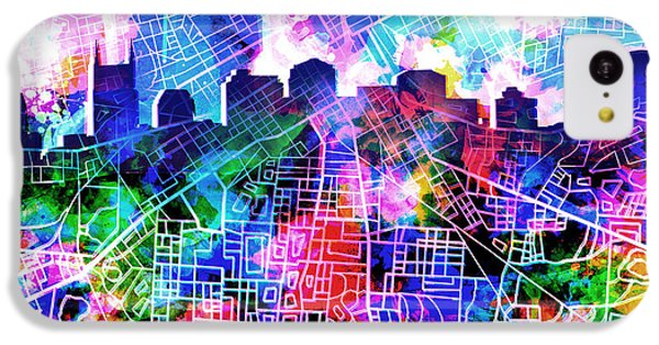 Nashville Skyline Watercolor 5 IPhone 5c Case
