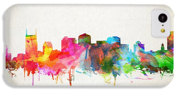 Nashville Skyline Watercolor 9 IPhone 5c Case