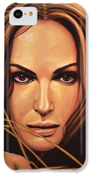 Swan iPhone 5c Case - Natalie Portman by Paul Meijering