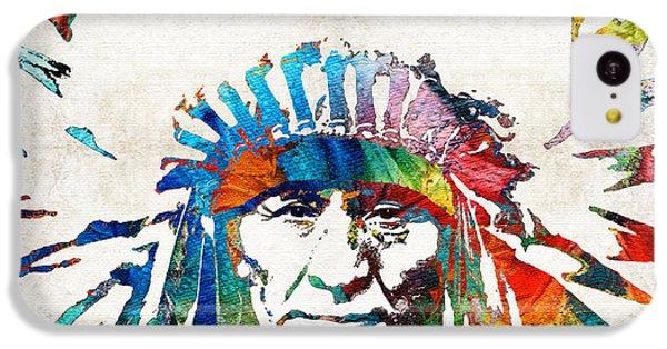 Bull iPhone 5c Case - Native American Art - Chief - By Sharon Cummings by Sharon Cummings