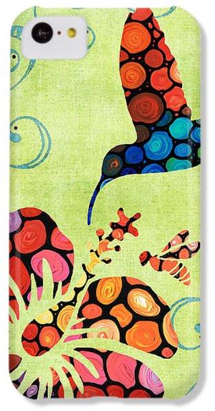 Humming Bird iPhone 5c Case - Nature's Harmony 2 - Hummingbird Art By Sharon Cummings by Sharon Cummings