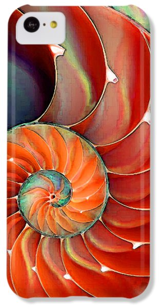 Bass iPhone 5c Case - Nautilus Shell - Nature's Perfection by Sharon Cummings