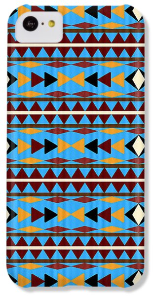 Navajo Blue Pattern IPhone 5c Case by Christina Rollo