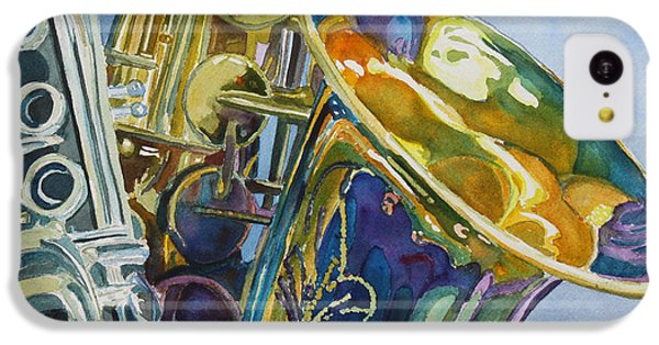 Saxophone iPhone 5c Case - New Orleans Reeds by Jenny Armitage