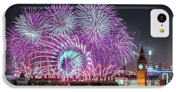 Big Ben iPhone 5c Case - New Year Fireworks by Stewart Marsden