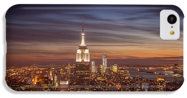 City Sunset iPhone 5c Case - New York City Skyline And Empire State Building At Dusk by Vivienne Gucwa