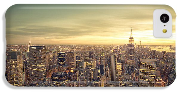 City Sunset iPhone 5c Case - New York City - Skyline At Sunset by Vivienne Gucwa