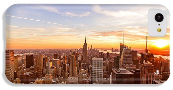 City Sunset iPhone 5c Case - New York City - Sunset Skyline by Vivienne Gucwa