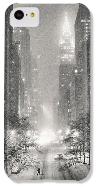 New York City - Winter Night Overlooking The Chrysler Building IPhone 5c Case by Vivienne Gucwa