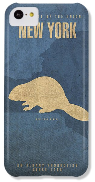 New York State Facts Minimalist Movie Poster Art  IPhone 5c Case by Design Turnpike