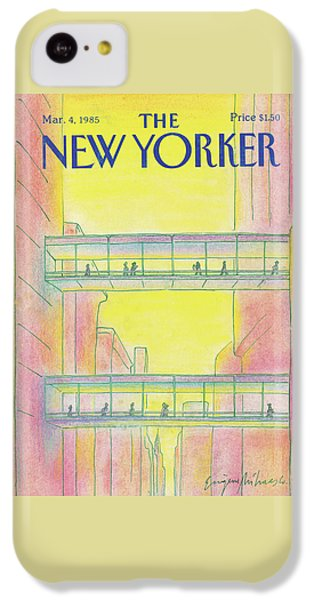 City Sunset iPhone 5c Case - New Yorker March 4th, 1985 by Eugene Mihaesco