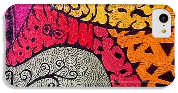 iPhone 5c Case - Nice Colors In A Doodling Designs I by Sandra Lira