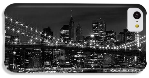 Night-skyline New York City Bw IPhone 5c Case by Melanie Viola