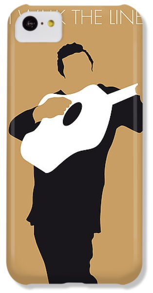Guitar iPhone 5c Case - No010 My Johnny Cash Minimal Music Poster by Chungkong Art