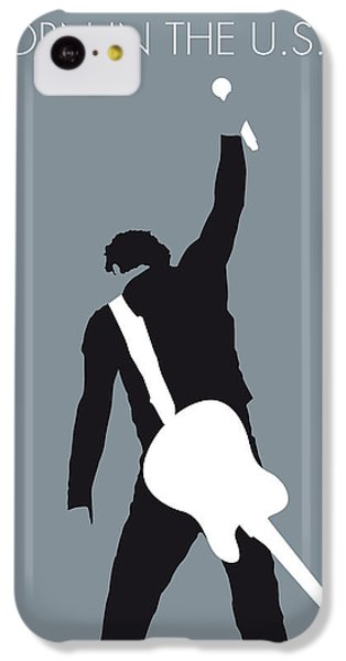 Guitar iPhone 5c Case - No017 My Bruce Springsteen Minimal Music Poster by Chungkong Art