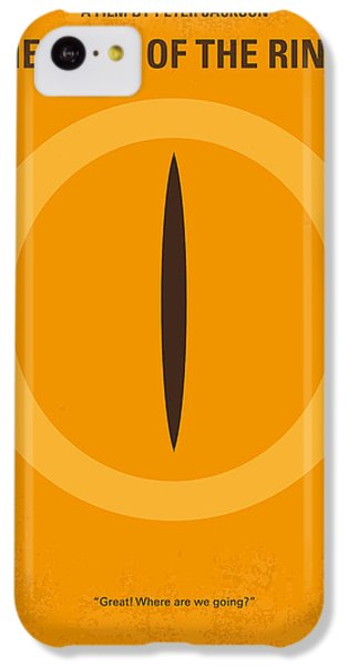 No039 My Lord Of The Rings Minimal Movie Poster IPhone 5c Case by Chungkong Art