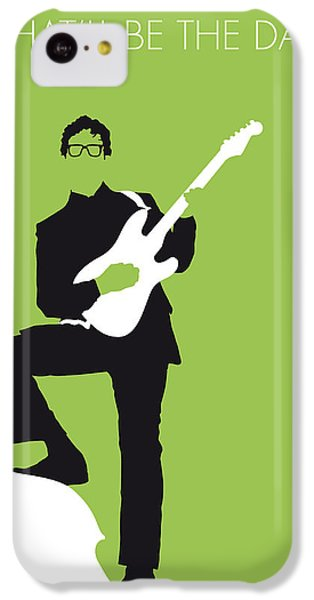 Guitar iPhone 5c Case - No056 My Buddy Holly Minimal Music Poster by Chungkong Art