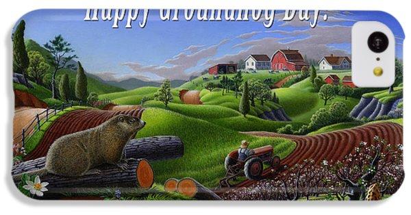 Groundhog iPhone 5c Case - no14 Happy Groundhog Day 5x7 greeting card  by Walt Curlee
