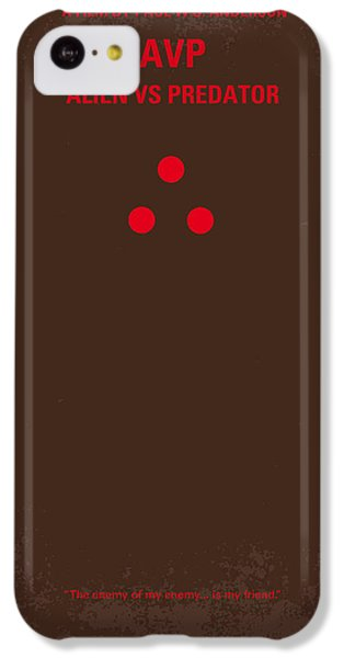 Aliens iPhone 5c Case - No148 My Avp Minimal Movie Poster by Chungkong Art