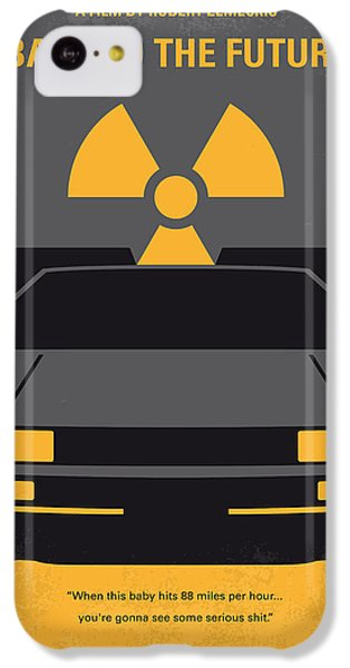 No183 My Back To The Future Minimal Movie Poster IPhone 5c Case