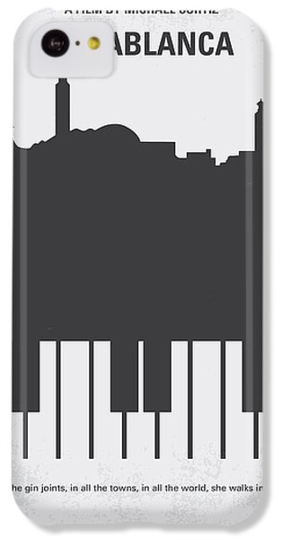 Hollywood iPhone 5c Case - No192 My Casablanca Minimal Movie Poster by Chungkong Art
